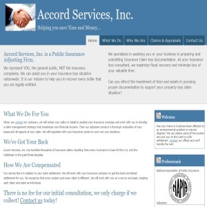 Accord Services, Inc. Public Insurance Adjusting